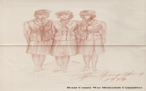 Image for Brant County War Memorial - Preliminary Sketches for Bronze Statues